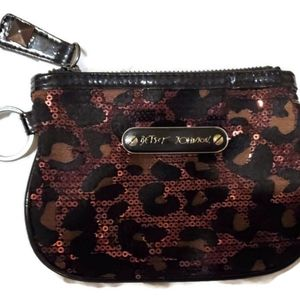Betsy Johnson Large change coin purse w/ Key ring